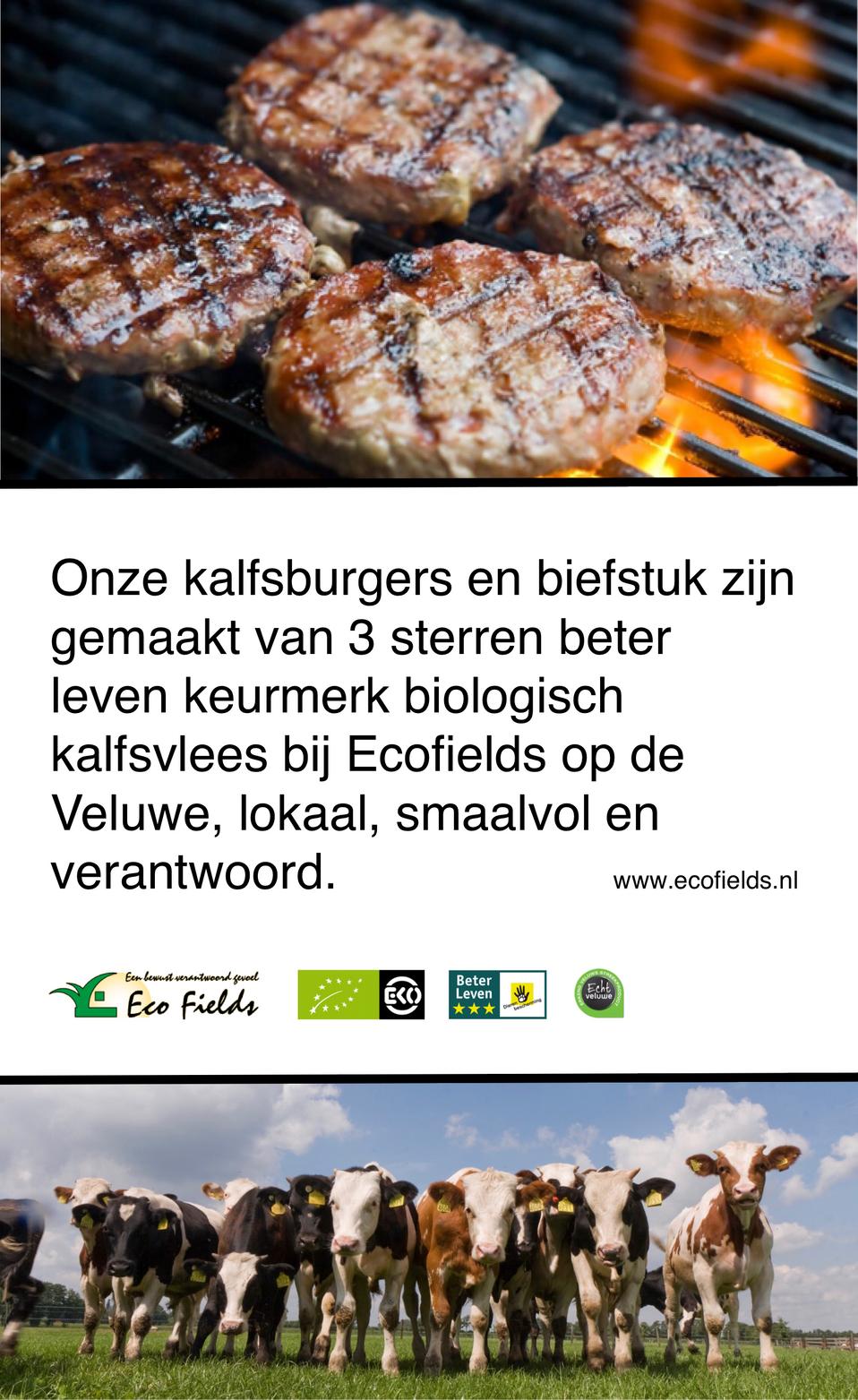 Ecofields Kalfsvlees bij eetcafe de Kate