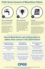 Mozambica Voters Public Service Concerns
