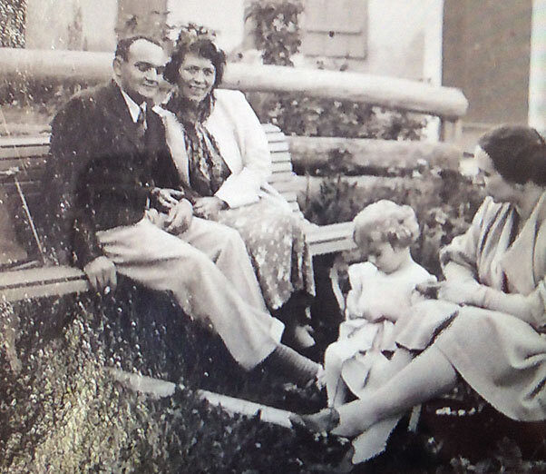 Cinzio & LIlly Trinca with a young Marlys Studer and her mother Ella Studer