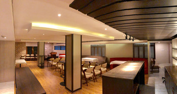 Plenty of space for buffet & drinks