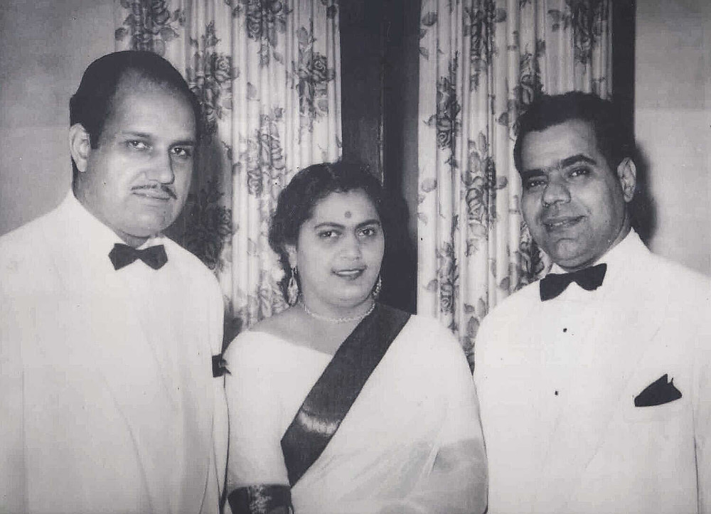 OP Puri | Swaran Puri | Ellis Joshua at Trincas in 1959