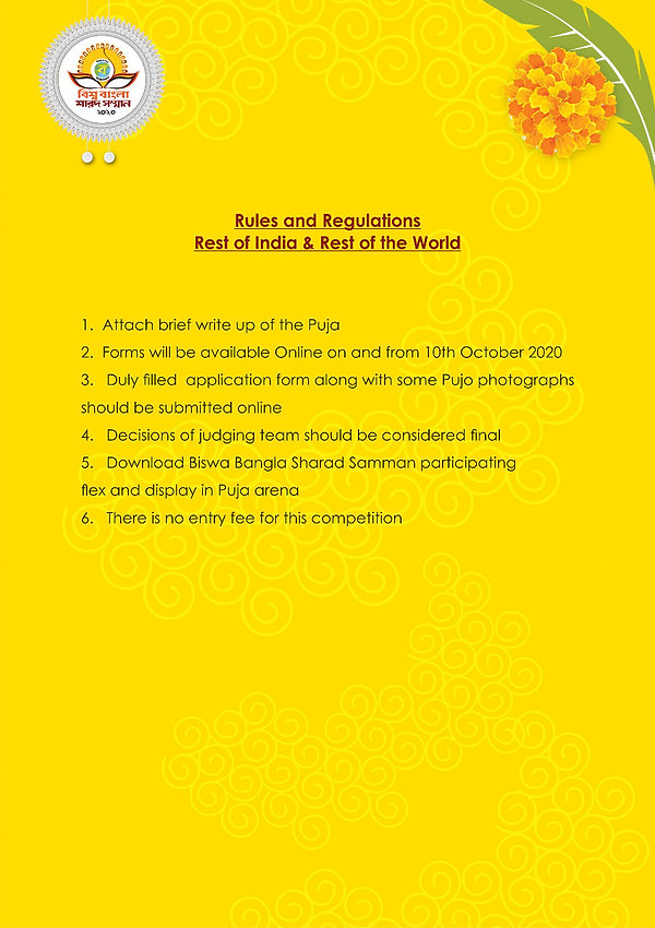Rules & Regulations - India and Worldwid