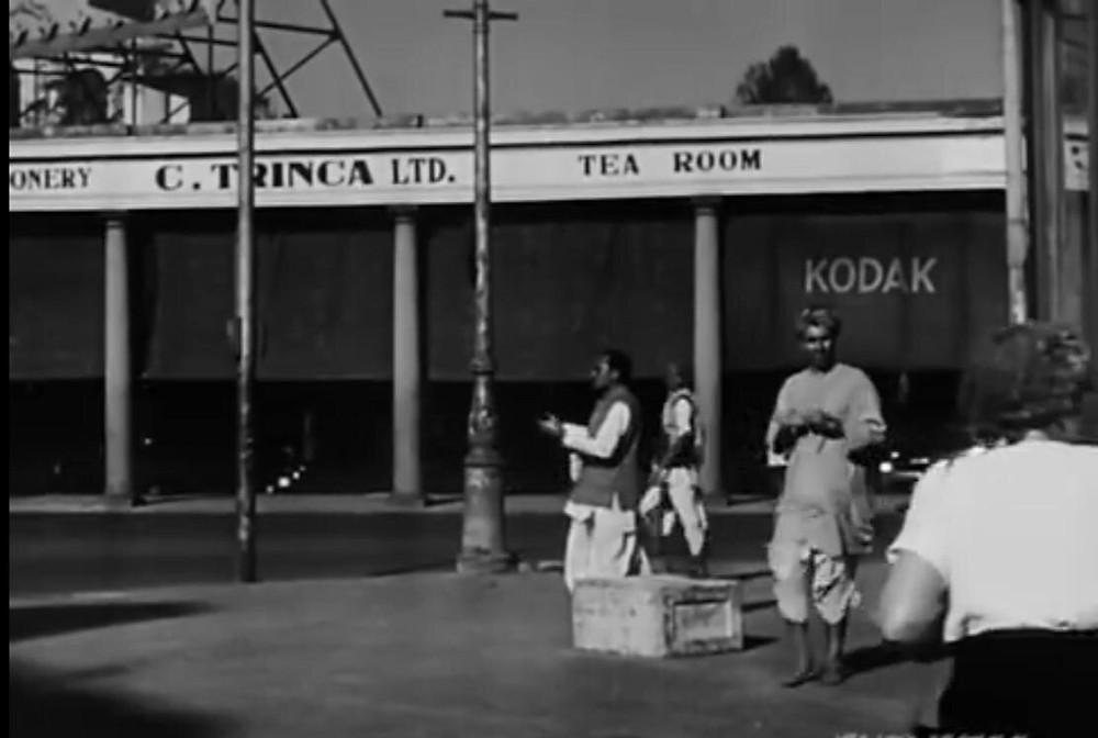 A still from Park Street, Calcutta in 1952: Balraj Sahni stars in Do Bigha Zamin, the first film to win a Filmfare Award (1953).