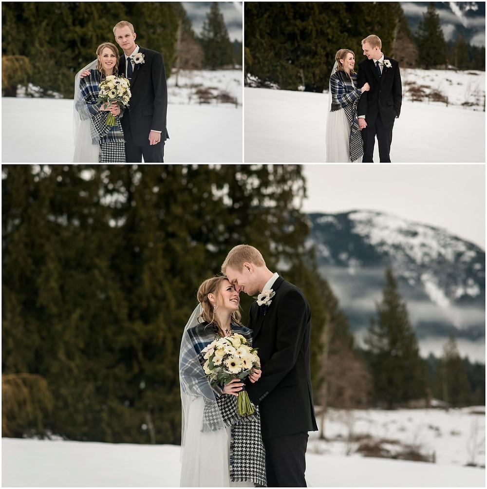 Wedding couple at Ryder Lake