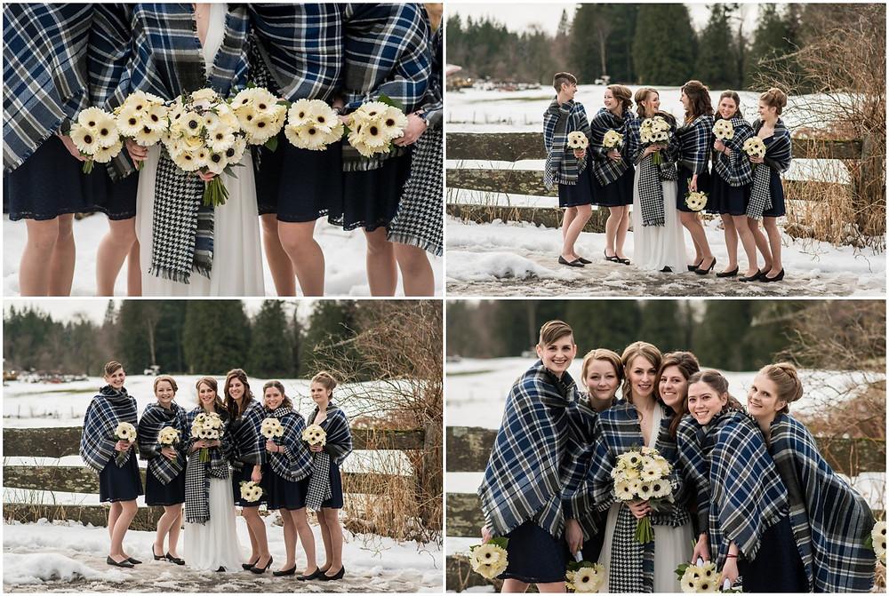 bridesmaids, bouquets