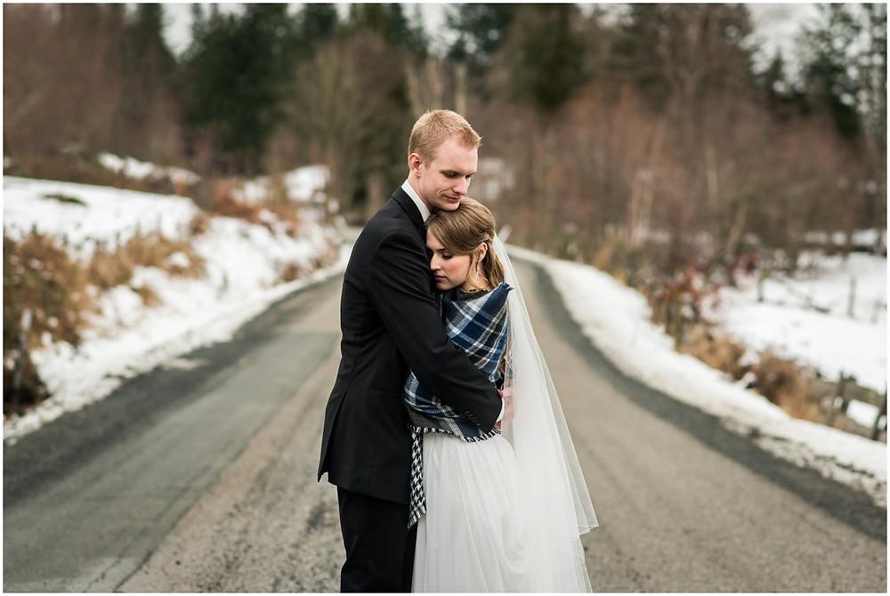 Bride & groom at Ryder Lake