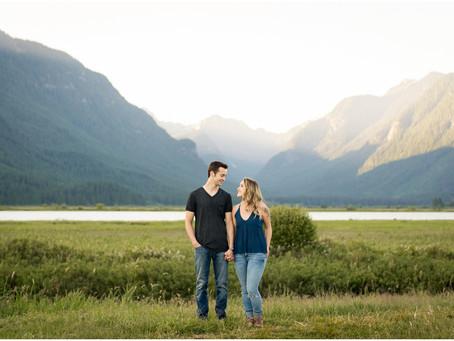 Matt & Rachelle - Pitt Lake Engagement Session