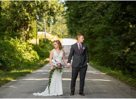 Josh & Melissa - Rustic Abbotsford Wedding