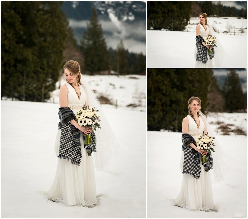 bride at Ryder Lake