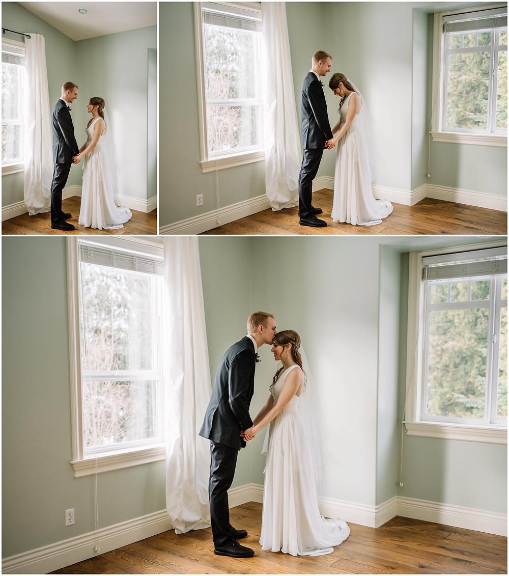 Bride & groom inside