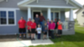 Merwin, Sandy, their family and the Double Duty Moving Team