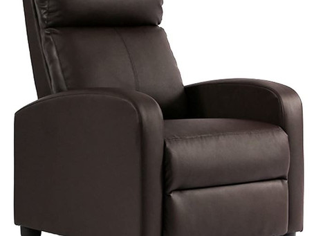 The FDW Recliner Chair Single Reclining Sofa Leather Chair
