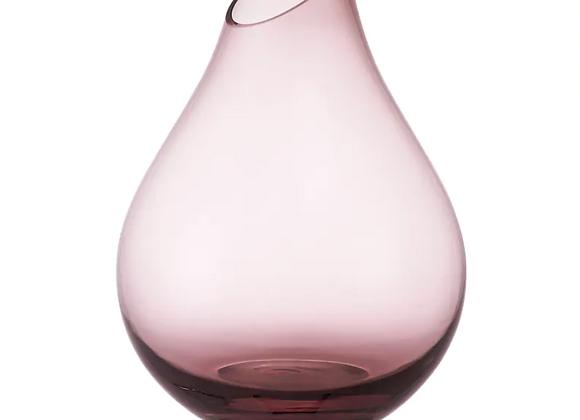 Glass Teardrop Vase [Pink - 17cm]