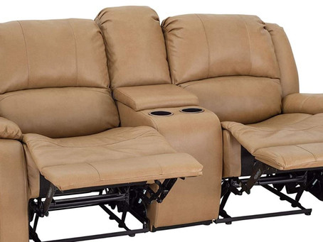 """Best RV Double Recliner for 2020. The RecPro Charles Collection 70"""" Double Recliner RV Sofa"""