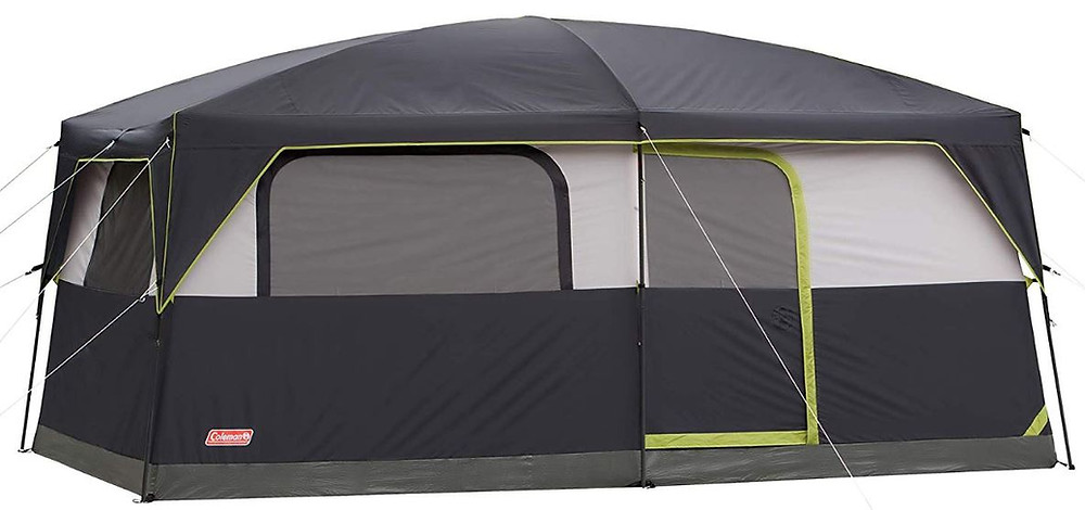 Large Tent, Family Tent, Coleman Prairie Breeze 9 Person Cabin Tent