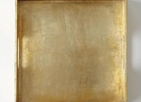 Square Lacquer Tray [Gold - 30.5cm sq. x 6cm)]