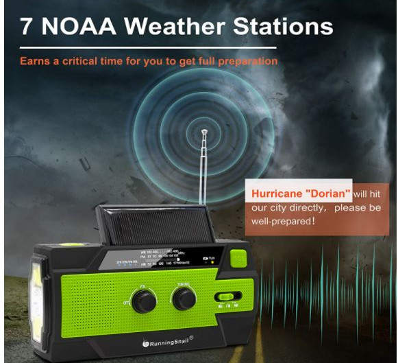 Why should I have an NOAA radio while camping?