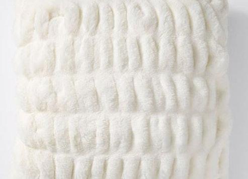 Faux Fur Cushion [White]