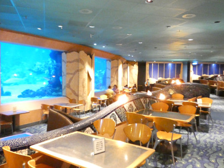 Where can you eat at a Table Service EPCOT Restaurant? The CORAL REEF RESTAURANT.