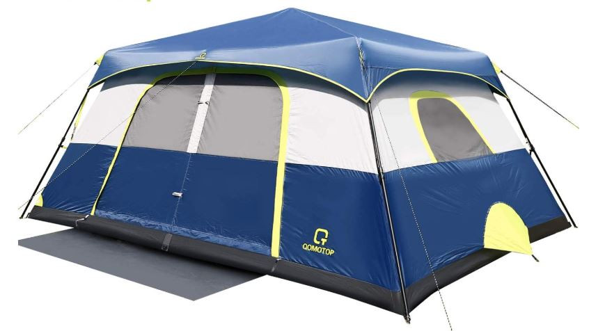 Best Large Family Cabin Tent for 2020 QOMTOP 9-Person Cabin Tent