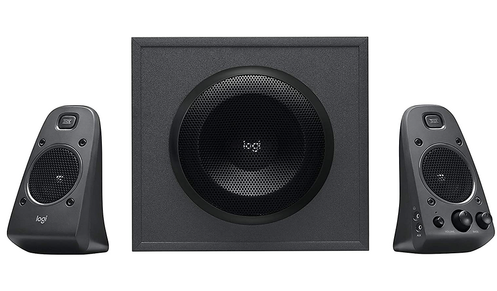 Logitech Z625 Powerful THX Sound 2.1 Speaker System for TVs, Game Consoles and Computers. Amazon. https://www.amazon.com/Logitech-Powerful-Speaker-Consoles-Computers/dp/B01JPOLLKE/ref=sr_1_16?crid=3F0BT4B7A8I2U&dchild=1&keywords=sound%2Bsystem&qid=1586997965&sprefix=sound%2Bs%2Caps%2C169&sr=8-16&th=1