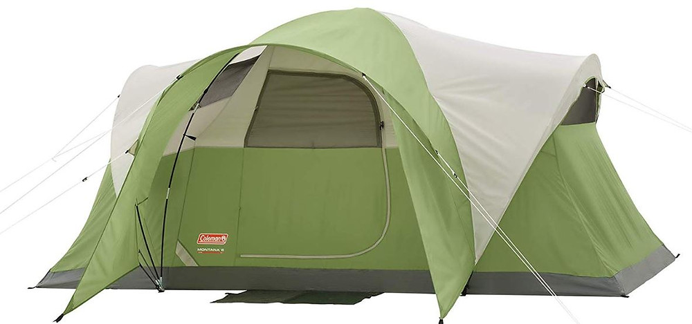 Image source: Coleman Montana 6-1239;x739; 6 Person Tent, Coleman, Amazon,<https://www.amazon.com/Coleman-2000028055-Montana-6-Person-Tent/dp/B001RPFAFW/ref=sr_1_8?crid=GP9VBP9FP8PT&dchild=1&keywords=coleman+tent+6+person&qid=1581638968&sprefix=coleman+tent+%2Caps%2C171&sr=8-8>