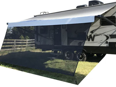 The RV Sun Shades Screen, The Best Accessory For Your RV Awning.