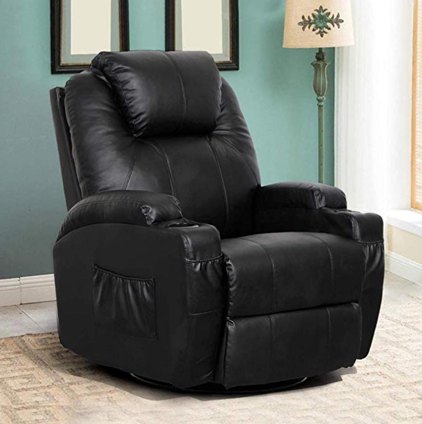 Esright Massage Recliner Chair Heated PU Leather Ergonomic Lounge 360 Degree Swivel (Black), Esright, Amazon,<https://www.amazon.com/Esright-Massage-Recliner-Leather-Ergonomic/dp/B01MZ938GM/ref=sr_1_11?crid=2U7SK2I2EK79A&keywords=rv+recliners+furniture+for+motorhomes&qid=1581220382&refinements=p_72%3A2661618011&rnid=2661617011&sprefix=RV+recliners%2Caps%2C167&sr=8-11