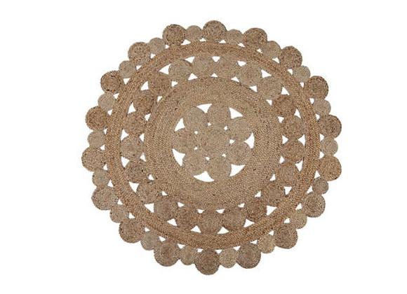 Round Jute Cut-Out Rug [1.33m diameter]