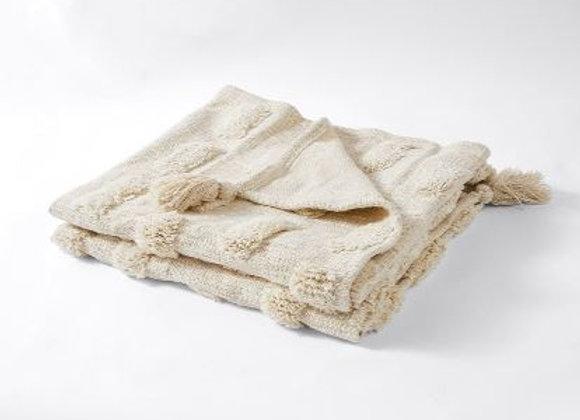 Cotton Tassled Throw [Natural]