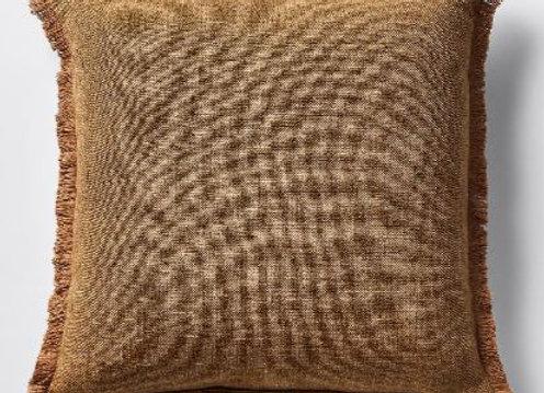 Fringed Cushion [Brown]
