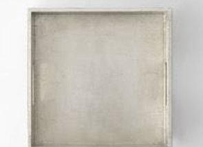 Square Lacquer Tray [Silver - 30.5cm sq. x 6cm)]