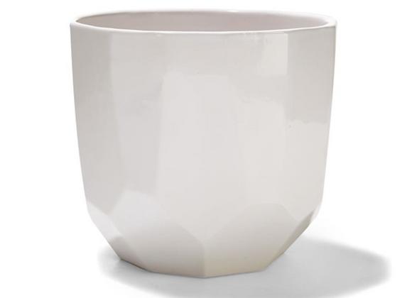 Geometric Pot [White - 17cm x 18.5cm diameter]