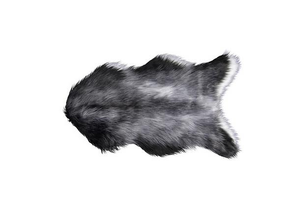Plush Rug [Black / Grey / White - 1m x 60cm]