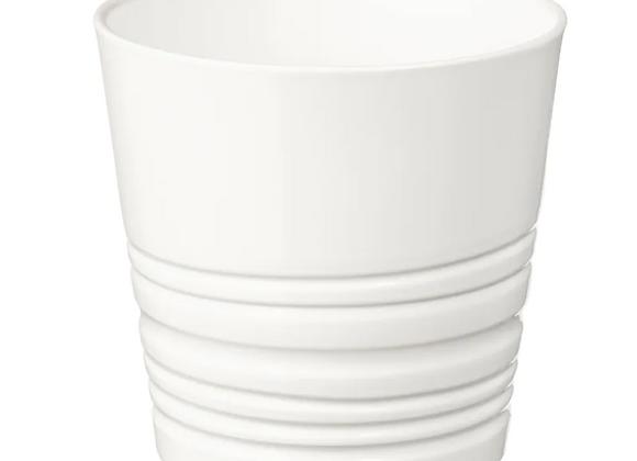 Ribbed Pot [White - 9cm]