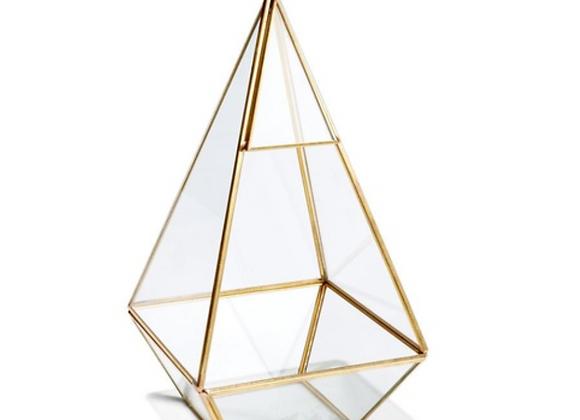 Prism Terrarium [Clear / Gold - 24cm x 12cm x 12cm
