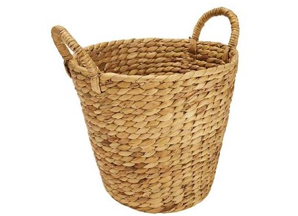 Round Woven Basket w/ Handles [Natural - 33cm x 30cm]