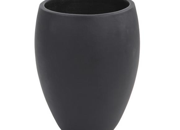 Tall Egg-Shaped Pot [Black - 32cm x 25cm diameter]