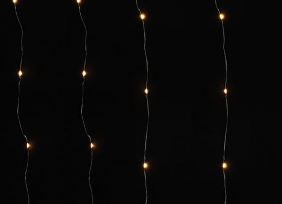 Curtain Fairy Lights [Warm White - 1m W x 2m L]