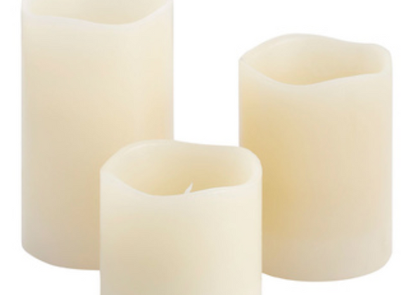 LED Candles [3 Pack with Remote]