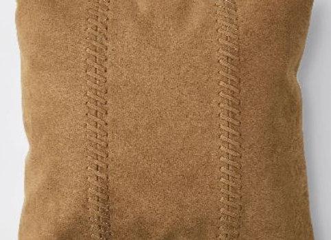 PU Leather Cushion [Tan]