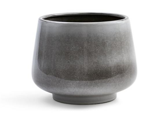 Glazed Pot [Grey - 18cm x 23cm diameter]