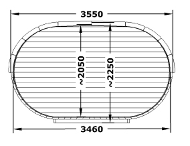 Oval 360 End Profile Dimensions