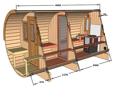 Dimensions Sauna 400