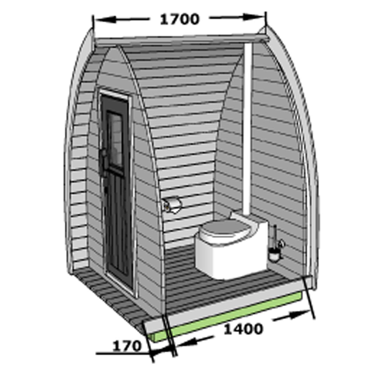 Pod toilet layout