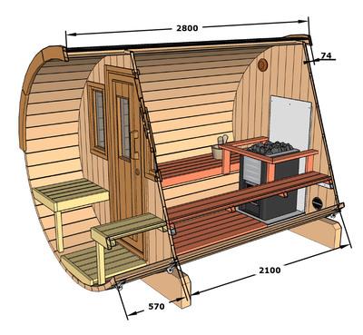Dimensions of Sauna