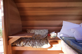 barrel cabin seating
