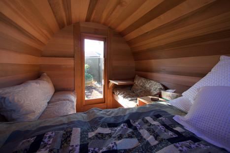 Barrel cabin - inside facing front door