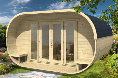 Oval cabin - large