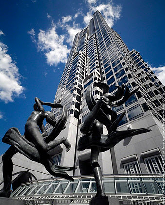 SunTrust Plaza, 1993, sculpture 'Ballet Olympia' by Paul Manship.